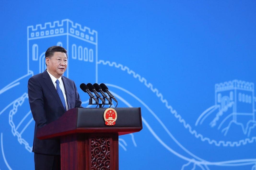 Peking, 2017. szeptember 26. Hszi Csin-ping kínai elnök az Interpol 86. közgyûlésén a Pekingi Országos Kongresszusi Központban 2017. szeptember 26-án. (MTI/EPA/Getty Images pool/Csang Lin-tao) *** Local Caption *** Xi Jinping