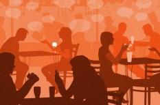 értékelés, étterem, lárma, zaj, zene
