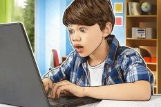 felmérés, forrás, gyerek, internet, kaspersky lab, tartalom