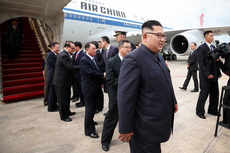 Kim Dzsong Un érkezése Szingapúrba/ MTI-Fotó - EPA/TERENCE TAN