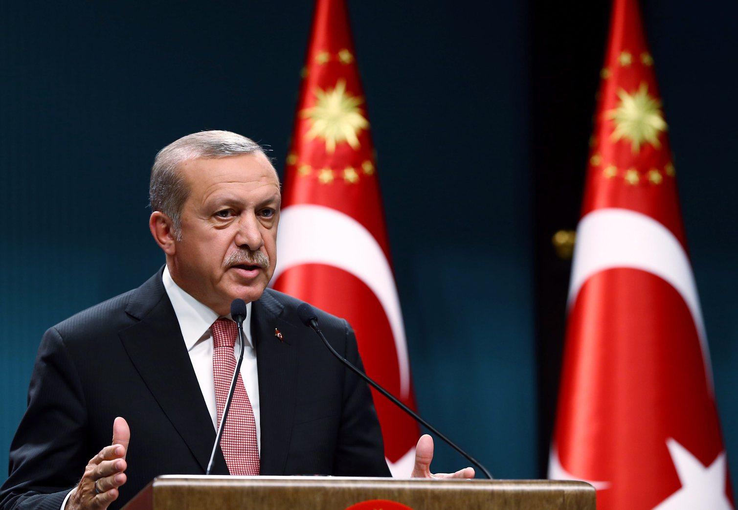 Recep Tayyip Erdogan török elnök. MTI/EPA