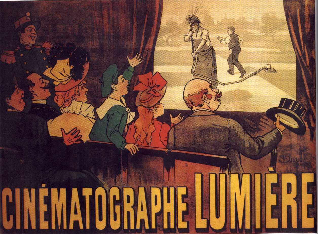 A Lumiére fivérek mozijának plakátja - Forrás:Wikipedia