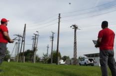 drón, ellenőrzés, energia hálózat, hiba