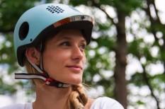 biztonság, kerékpár, közlekedés, sisak