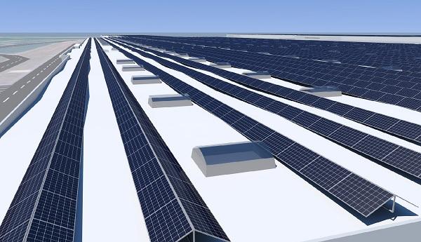 Így fest majd a győri napelempark - Kép: E.On