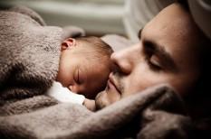 alvás, család, csecsemő, egészség