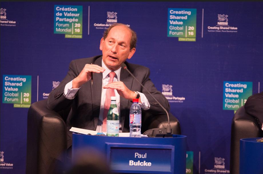 Paul Bulcke, a Nestlé elnöke. (Fotó: Flickr/Nestlé)