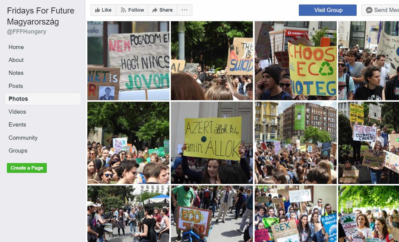 A Fridays for the Future Magyarország oldala a Facebookon.