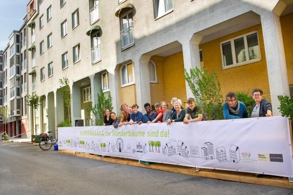 Mobil fasor hívja fel a figyelmet a városi fák jelentőségére Bécsben © Daniel Auer