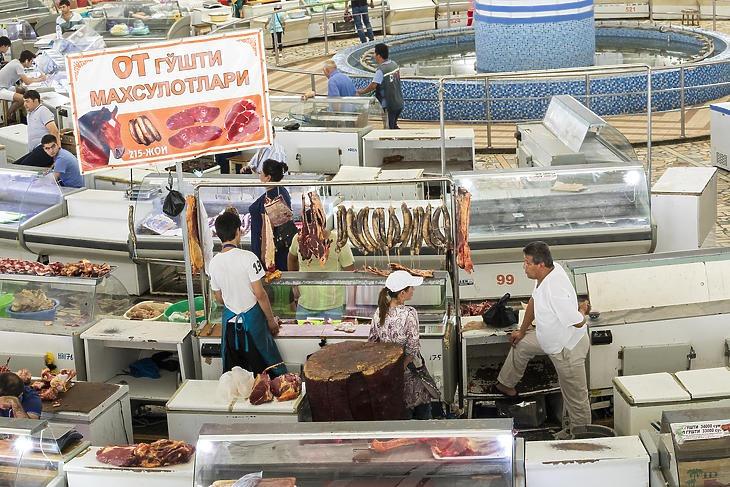 A Chorsu bazár Taskentben, Üzbegisztán fővárosában. (Forrás: Depositphotos)