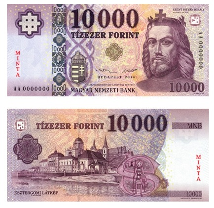 A megújított 10 ezer forintos bankjegy. Kép forrása: MNB